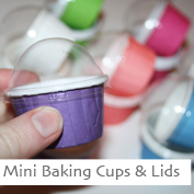 Mini Baking Cups with Lids
