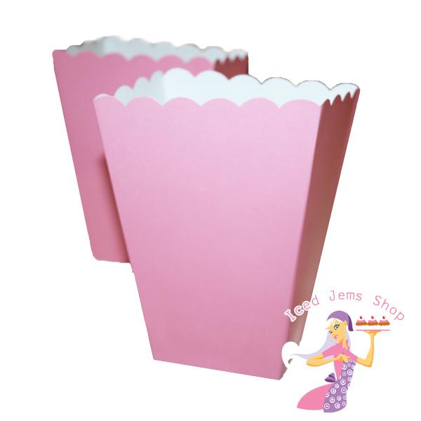 Plain Popcorn Boxes Plain Pink Popcorn Boxes 5