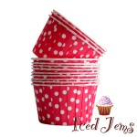 Red Polka Dot Baking Cups