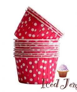 Red Polka Dot Baking Cups