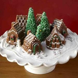 Christmas Village Cake