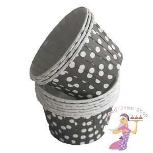 Black Polka Dot Baking Cups