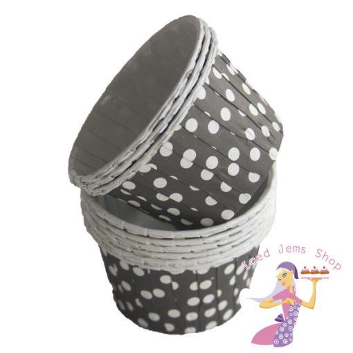 Black Polka Dot Baking Cups