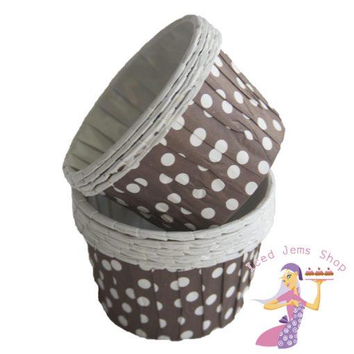 Brown Polka Dot Baking Cups