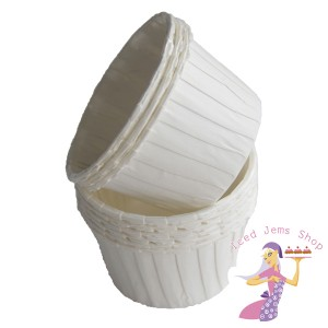 White Pleated Baking Cups