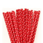 Red Mini Dot Straws