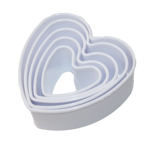 Plastic Heart Cookie Cutters