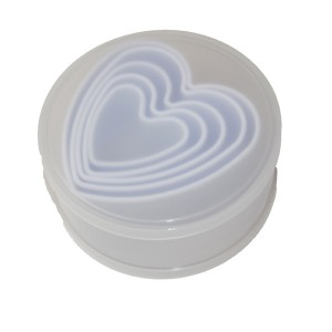 Heart Cookie Cutters Tub