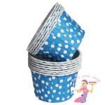 Dark Blue Polka Dot Baking Cups