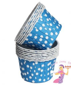 Dark Blue Polka Dot Baking Cups