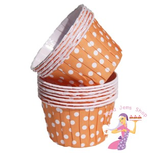 Orange Polka Dot Baking Cups