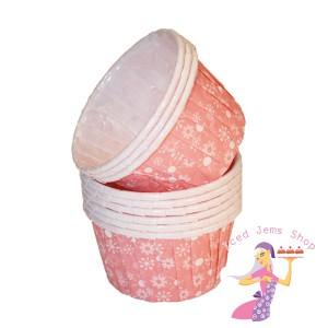 Pink Snowflake Baking Cups