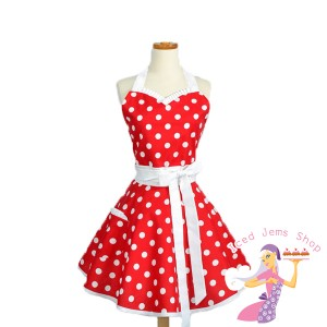 Red Polka Dot Sweetheart Apron