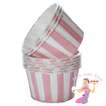 Pink Stripe Baking Cups