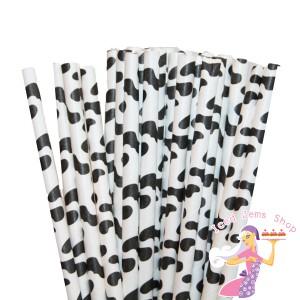 Cow Print Straws