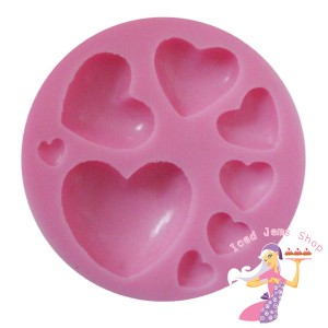 Mixed Hearts Mould
