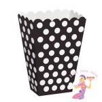 Black Polka Dot Treat Boxes