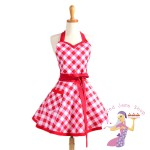 Red Gingham Sweetheart Apron