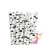 Zebra Print Paper Straws