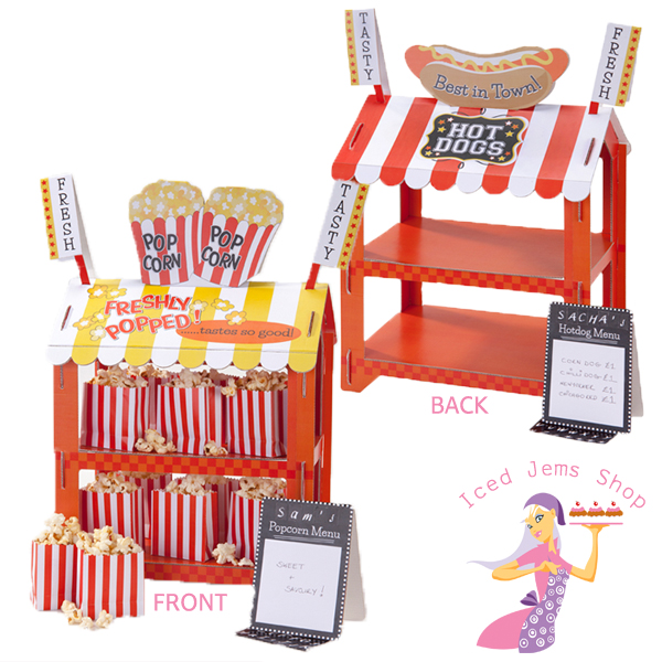 popcorn and hotdog reversible party stand iced jems shop. Black Bedroom Furniture Sets. Home Design Ideas