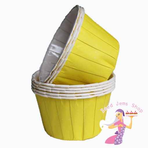 Plain Yellow Baking Cups