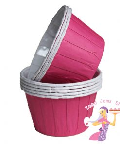 Plain Cerise Pink Baking Cups