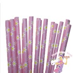 Pink Daisy Paper Straws