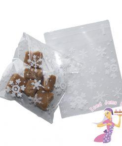 White Snowflake Cello Bags