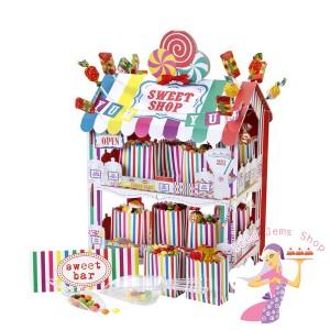 Multicoloured sweet stall