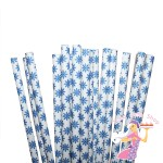 Blue Snowflake Straws