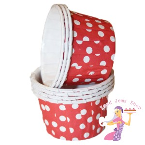 Mini Red Baking Cups