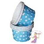 Mini Blue Polka Dot Baking Cups