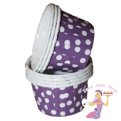 Mini Purple Baking Cups