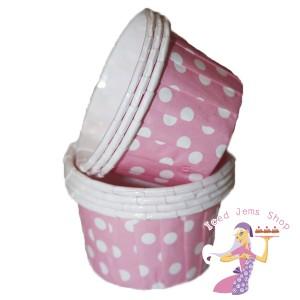 Mini Pink Baking Cups