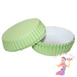 Green Polka Dot Flan Cases