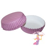 Purple Polka Dot Flan Cases