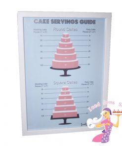 Cake Servings Guide Poster