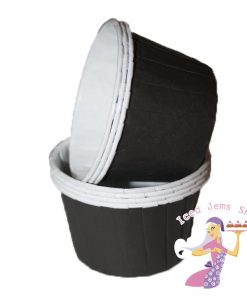 Plain Black Baking Cups