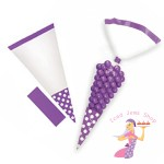 Purple Polka Dot Sweet Cones