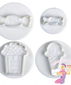 Popcorn ice cream sweets plunger cutters