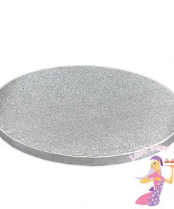 Round Silver Cake Drums