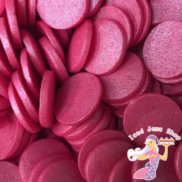 Large Deep Pink Confetti Sprinkles
