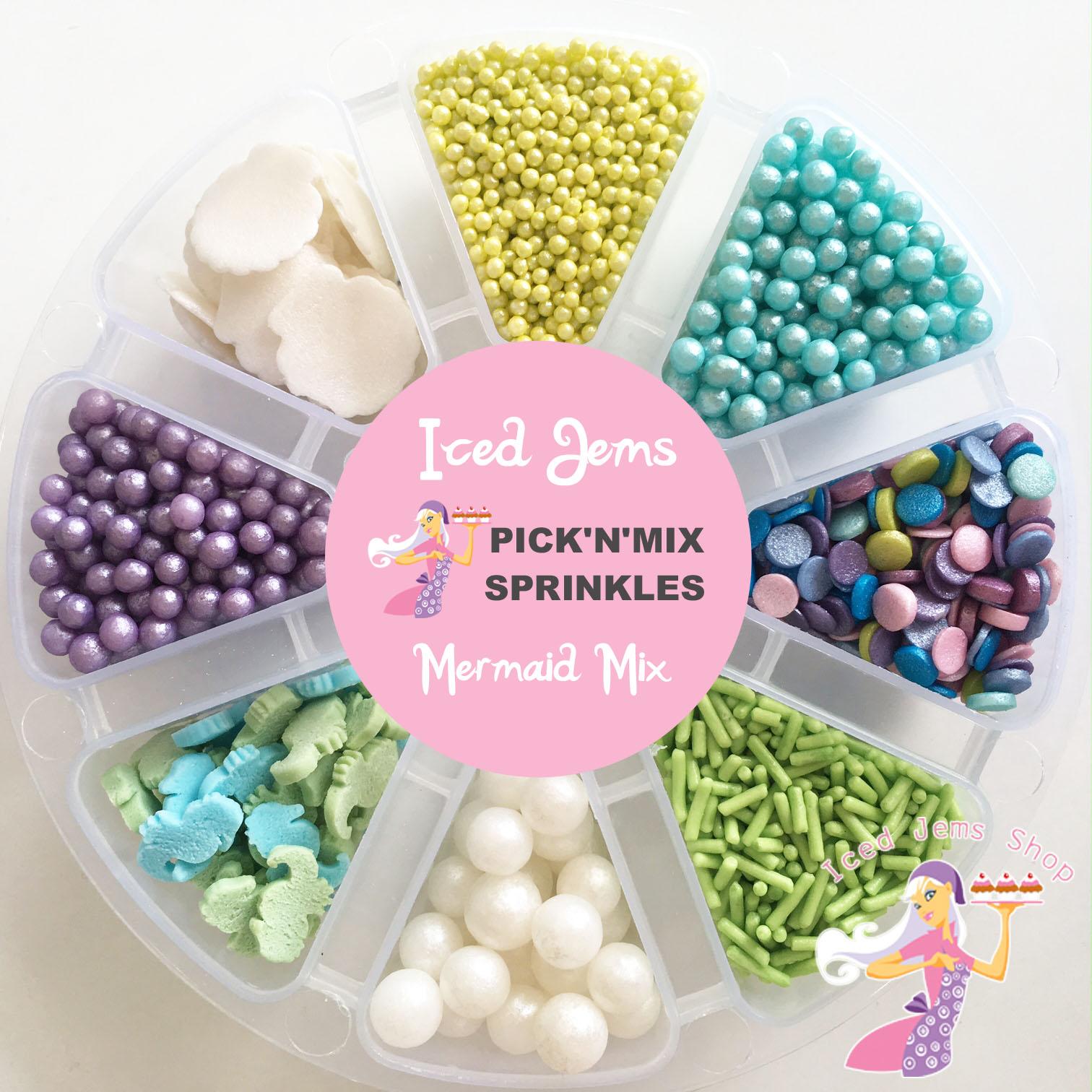 Mermaid Pick N Mix Sprinkles Iced Jems Shop