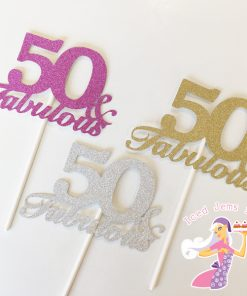 And Fabulous Cake Glitter Toppers
