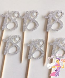 Cupcake Number Glitter Toppers
