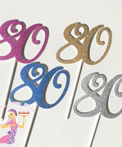 Cake Number Glitter Cake Toppers